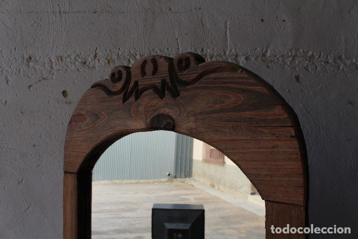 Antigüedades: espejo de pie rustico - Foto 2 - 206953897
