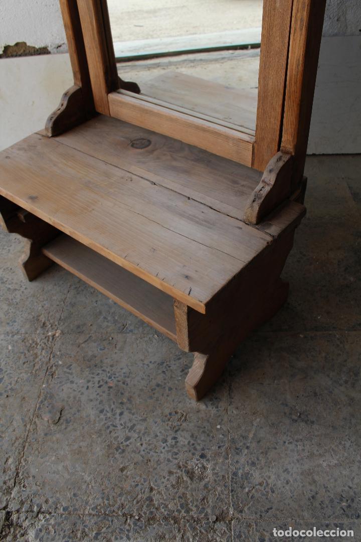 Antigüedades: espejo de pie rustico - Foto 3 - 206953897