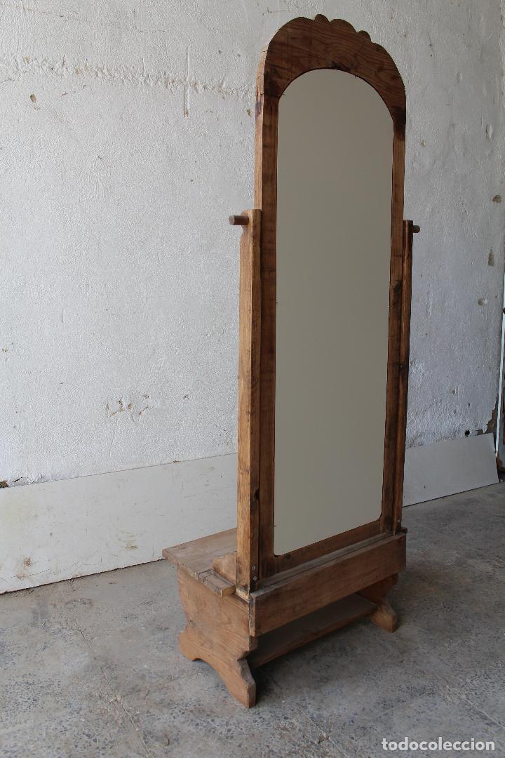 Antigüedades: espejo de pie rustico - Foto 9 - 206953897