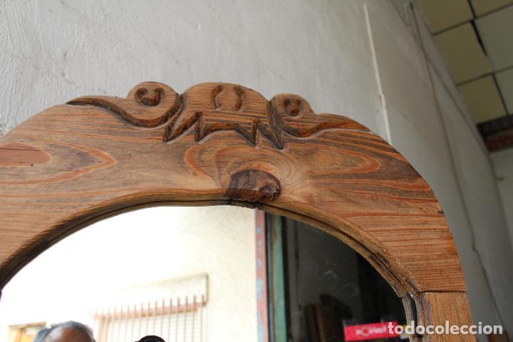 Antigüedades: espejo de pie rustico - Foto 13 - 206953897