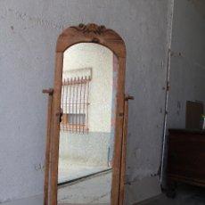 Antigüedades: ESPEJO DE PIE RUSTICO. Lote 206953897