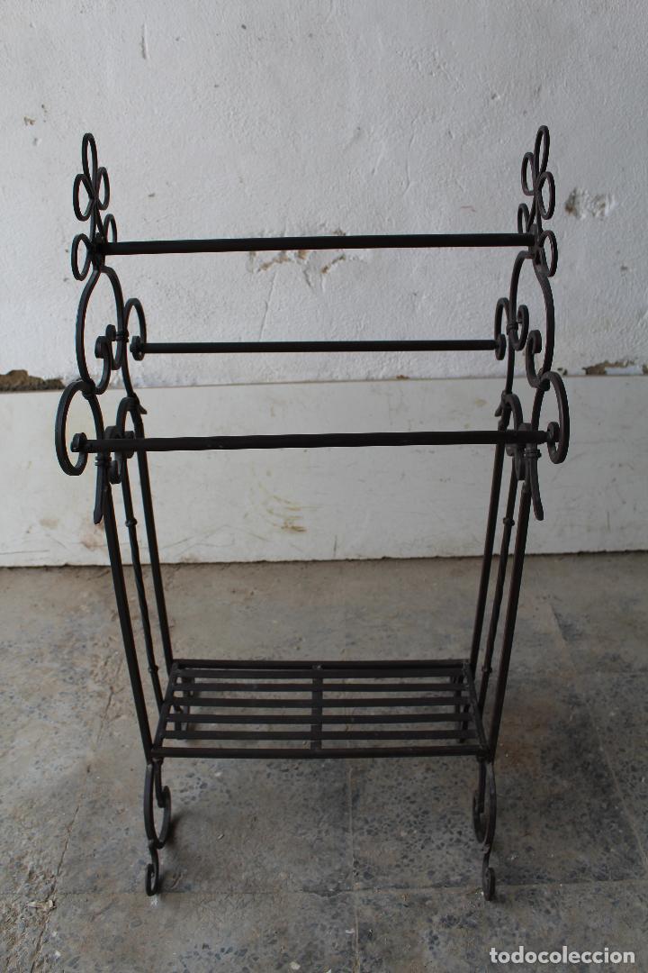 Antigüedades: gabanero recibidor en hierro de forja - Foto 3 - 206955218