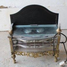 Antigüedades: ESTUFA-CHIMENEA ELECTRICA. Lote 206960410