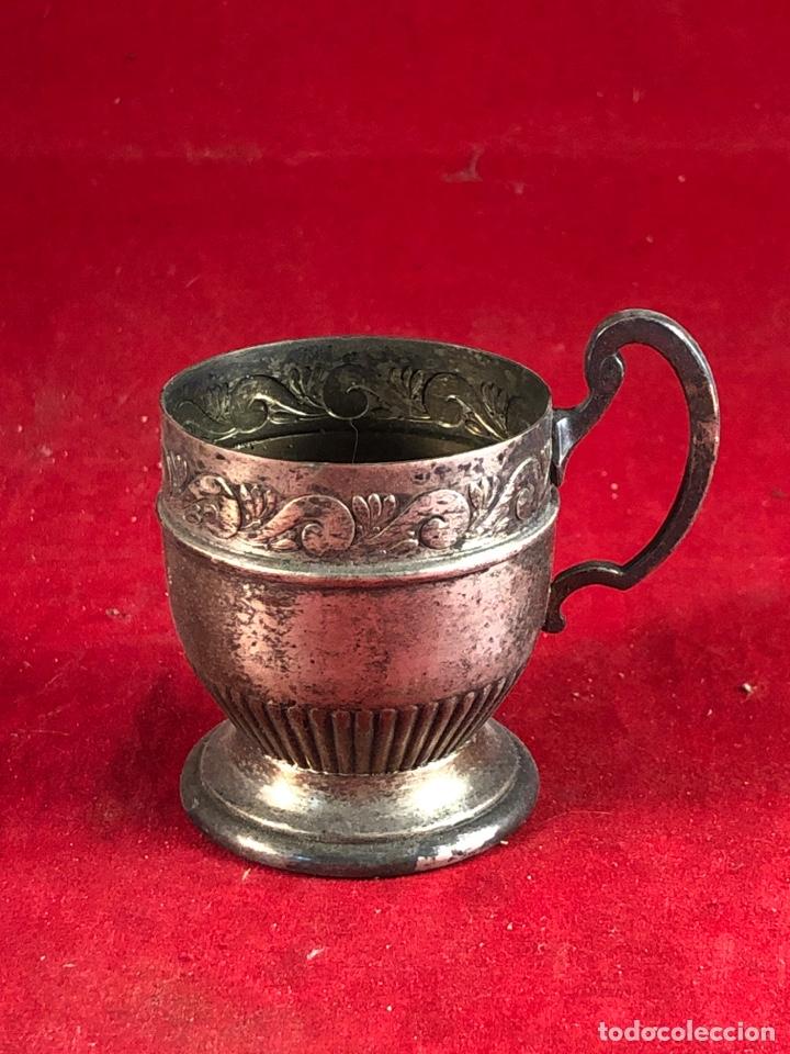 COPITA ALPACA PLATEADA CON MARCA KAYSER - ALTURA 6CM (Antigüedades - Hogar y Decoración - Copas Antiguas)