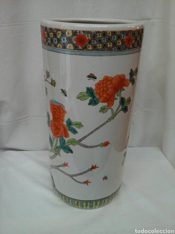 Antigüedades: Paraguero porcelana china - Foto 2 - 206983308
