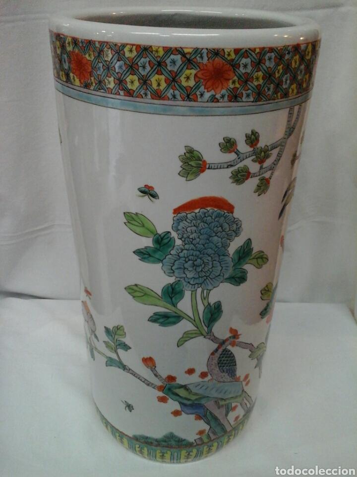 Antigüedades: Paraguero porcelana china - Foto 3 - 206983308