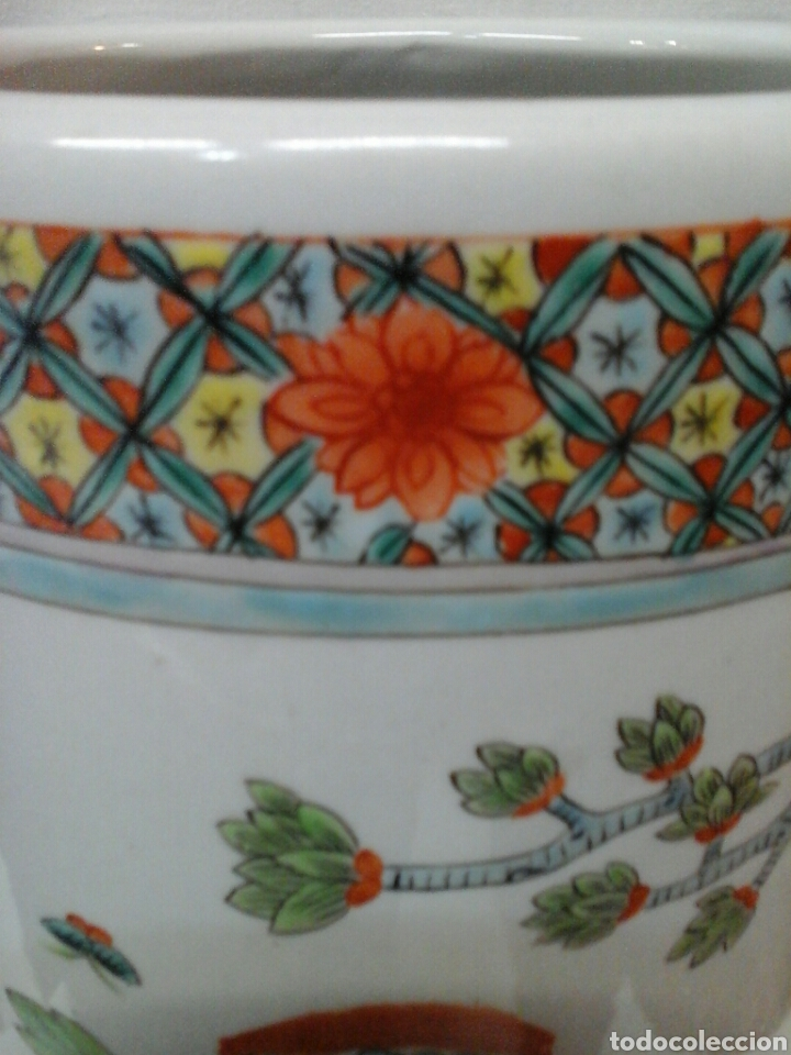 Antigüedades: Paraguero porcelana china - Foto 4 - 206983308