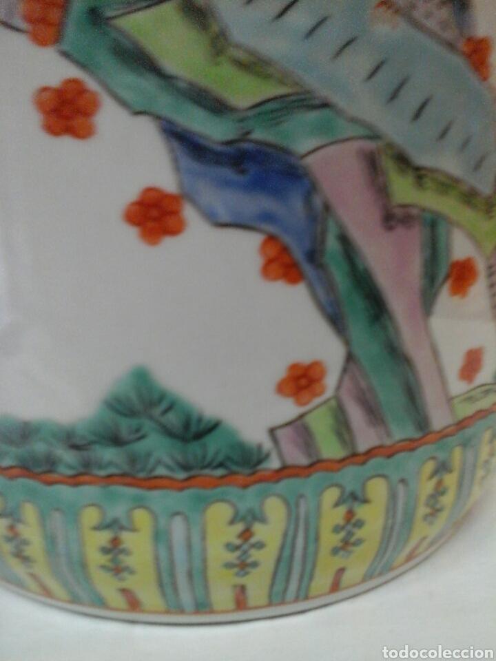 Antigüedades: Paraguero porcelana china - Foto 5 - 206983308