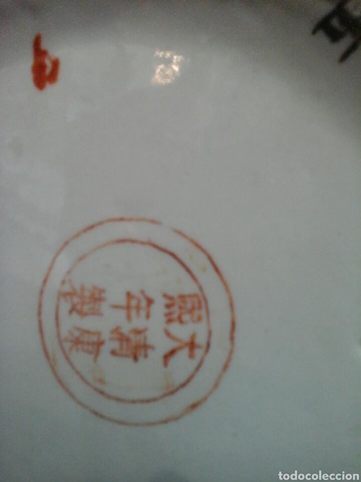 Antigüedades: Paraguero porcelana china - Foto 6 - 206983308