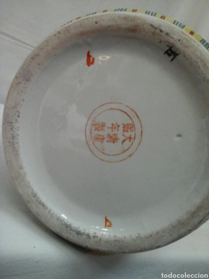 Antigüedades: Paraguero porcelana china - Foto 7 - 206983308