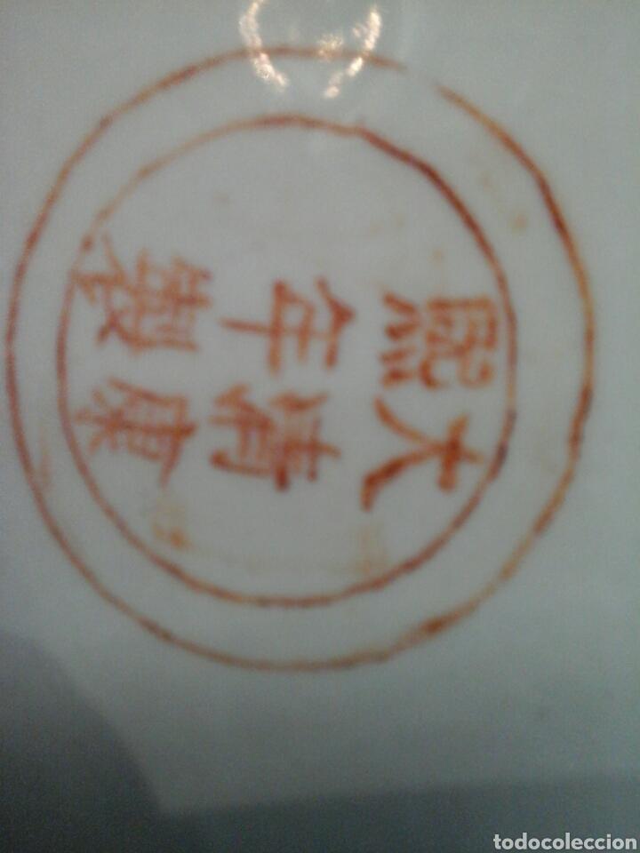 Antigüedades: Paraguero porcelana china - Foto 8 - 206983308