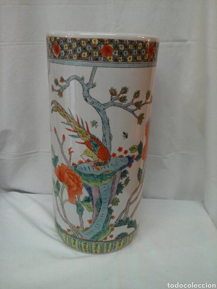 PARAGUERO PORCELANA CHINA (Antigüedades - Porcelanas y Cerámicas - China)