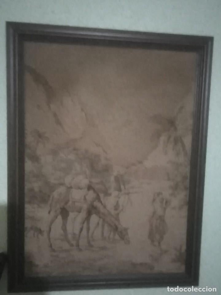 ANTIGUO TAPIZ (Antigüedades - Hogar y Decoración - Tapices Antiguos)