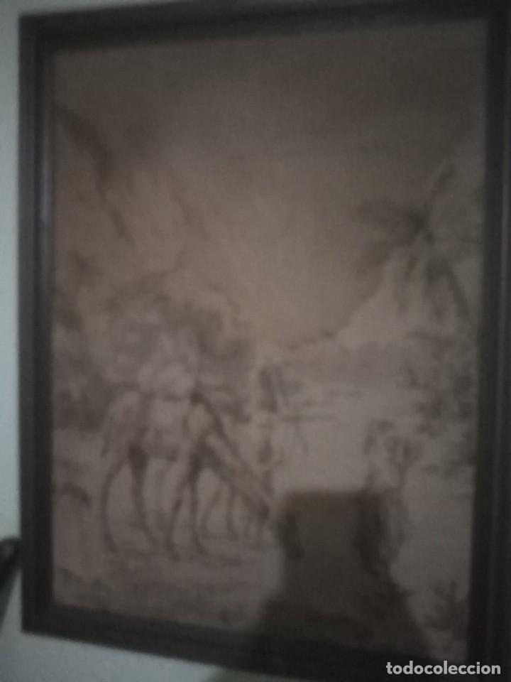 Antigüedades: ANTIGUO TAPIZ - Foto 2 - 206987888