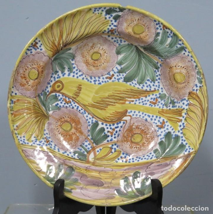 PLATO DE CERAMICA. ARENAS. MANISES. SIGLO XIX (Antigüedades - Porcelanas y Cerámicas - Manises)