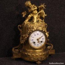 Antigüedades: RELOJ FRANCÉS EN BRONCE DORADO. Lote 206990822