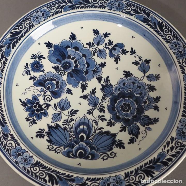 PLATO DE CERÁMICA DE DELFT. 1950 - 1960 (Antigüedades - Porcelana y Cerámica - Holandesa - Delft)