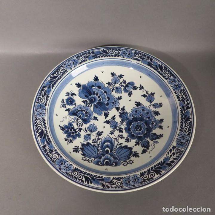 Antigüedades: Plato de cerámica de DELFT. 1950 - 1960 - Foto 2 - 206991196