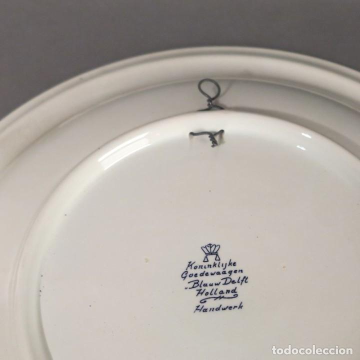 Antigüedades: Plato de cerámica de DELFT. 1950 - 1960 - Foto 3 - 206991196