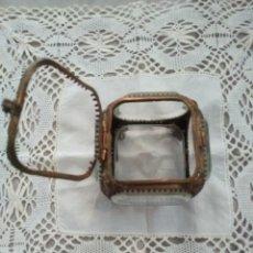 Antiquités: RELICARIO JOYERO CRISTAL LATON. Lote 206998256
