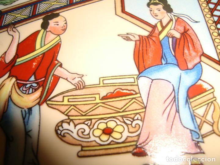 Antigüedades: ANTIGUO PLATO DE PORCELANA CHINA, FINALES DEL SIGLO XX, 14CM. - Foto 2 - 207003288