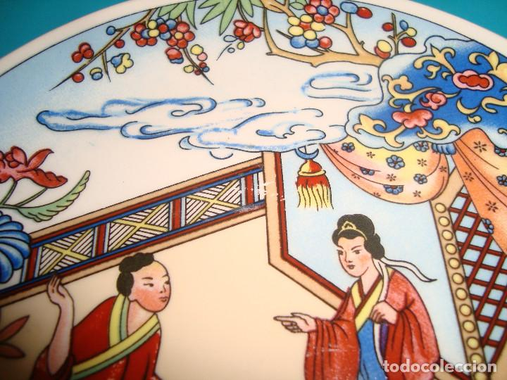 Antigüedades: ANTIGUO PLATO DE PORCELANA CHINA, FINALES DEL SIGLO XX, 14CM. - Foto 3 - 207003288