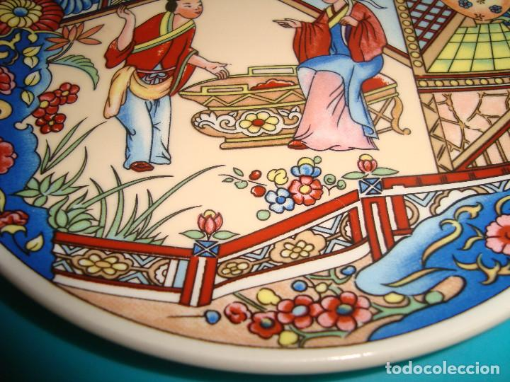 Antigüedades: ANTIGUO PLATO DE PORCELANA CHINA, FINALES DEL SIGLO XX, 14CM. - Foto 4 - 207003288