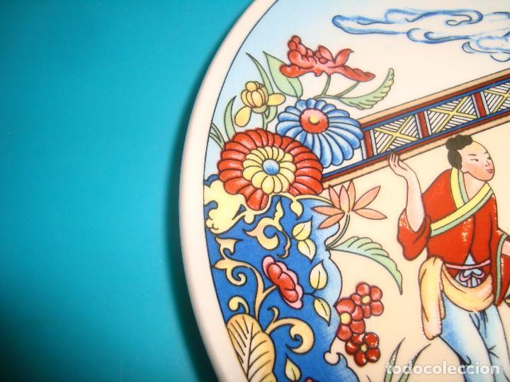 Antigüedades: ANTIGUO PLATO DE PORCELANA CHINA, FINALES DEL SIGLO XX, 14CM. - Foto 5 - 207003288