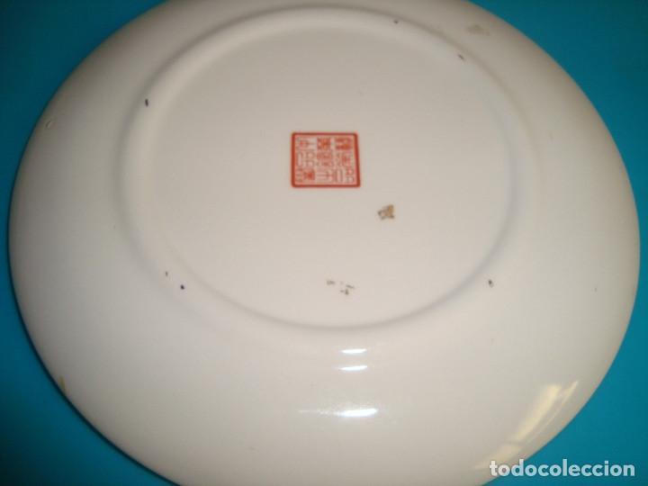 Antigüedades: ANTIGUO PLATO DE PORCELANA CHINA, FINALES DEL SIGLO XX, 14CM. - Foto 7 - 207003288