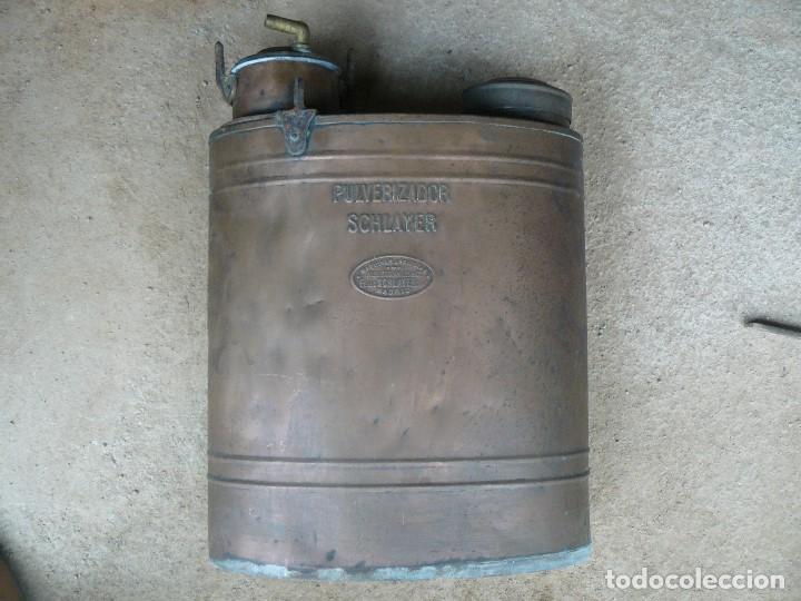 Antigüedades: FUMIGADORA MANUAL PARA SULFATAR ., MARCA SCHLAYER - Foto 3 - 207004045