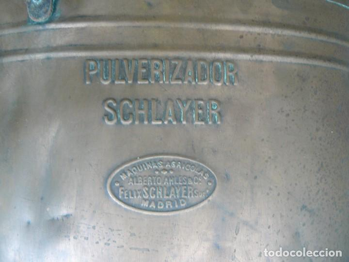 Antigüedades: FUMIGADORA MANUAL PARA SULFATAR ., MARCA SCHLAYER - Foto 4 - 207004045