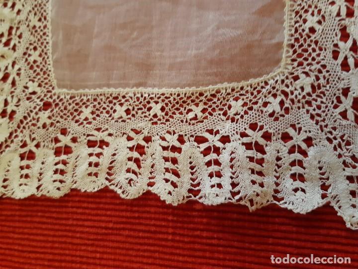 Antigüedades: Antiguo pañuelo de encaje - Foto 2 - 207011040