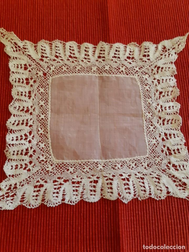 Antigüedades: Antiguo pañuelo de encaje - Foto 3 - 207011040