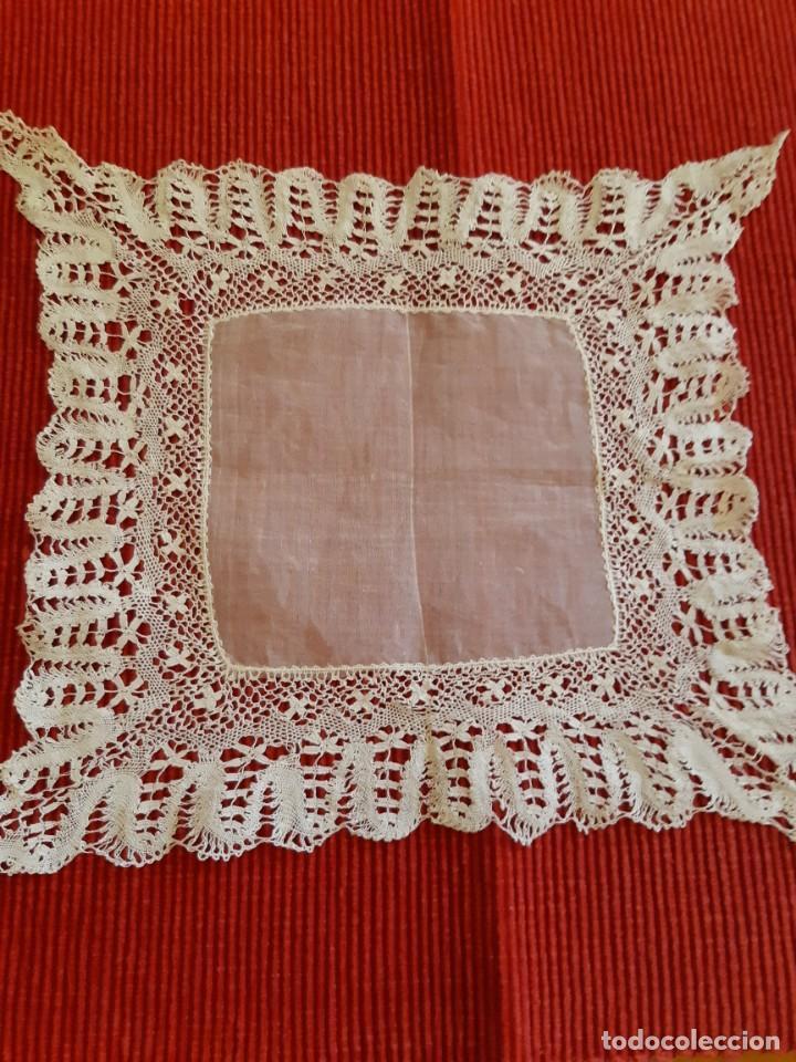 Antigüedades: Antiguo pañuelo de encaje - Foto 4 - 207011040