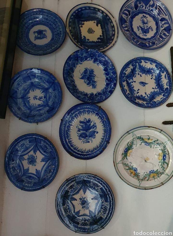 PLATOS ANTIGUOS CERAMICA DE TALAVERA (Antigüedades - Porcelanas y Cerámicas - Talavera)
