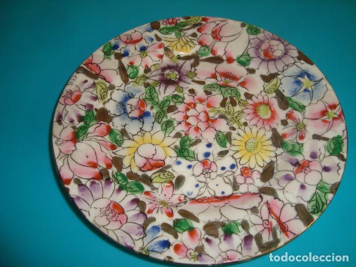 ANTIGUO PLATO DE PORCELANA DE MACAU, FINALES DEL SIGLO XX, 14CM. (Antigüedades - Porcelanas y Cerámicas - China)