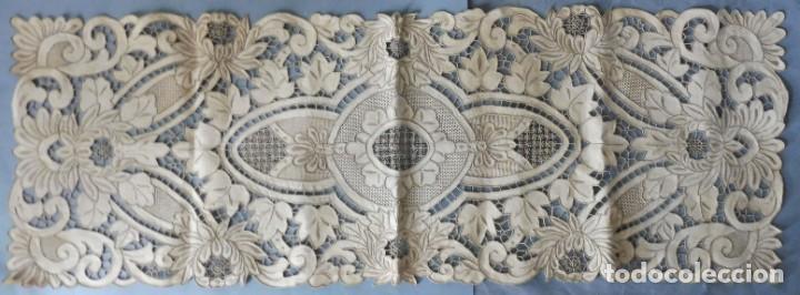 Antigüedades: ANTIGUO MANTEL - PIEZA DE ENCAJE S. XIX - Foto 3 - 207029872