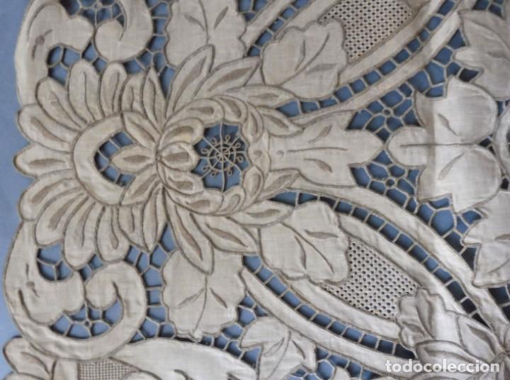 Antigüedades: ANTIGUO MANTEL - PIEZA DE ENCAJE S. XIX - Foto 4 - 207029872