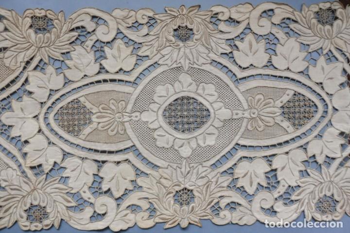 Antigüedades: ANTIGUO MANTEL - PIEZA DE ENCAJE S. XIX - Foto 9 - 207029872