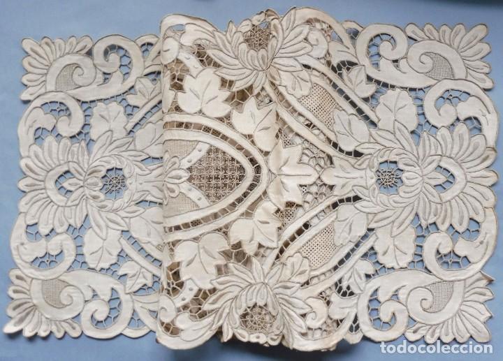 Antigüedades: ANTIGUO MANTEL - PIEZA DE ENCAJE S. XIX - Foto 11 - 207029872