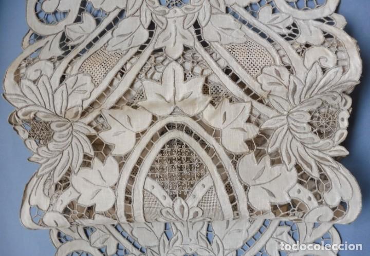 Antigüedades: ANTIGUO MANTEL - PIEZA DE ENCAJE S. XIX - Foto 13 - 207029872