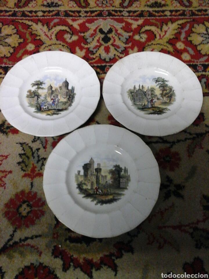PLATOS LOZA INGLESA (Antigüedades - Porcelanas y Cerámicas - Inglesa, Bristol y Otros)