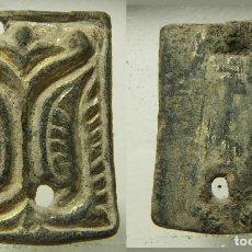 Antigüedades: RARO ADORNO A IDENTIFICAR CHAPADO EN ORO. Lote 207045942