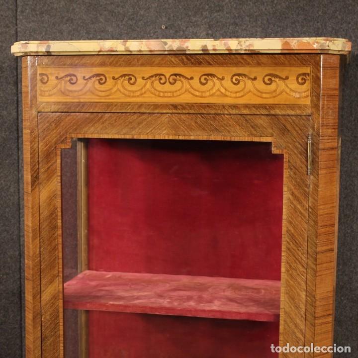 Antigüedades: Vitrina francesa en madera con incrustaciones con encimera de mármol - Foto 4 - 207060461