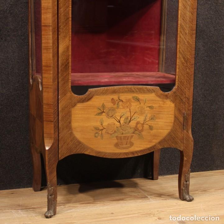 Antigüedades: Vitrina francesa en madera con incrustaciones con encimera de mármol - Foto 5 - 207060461