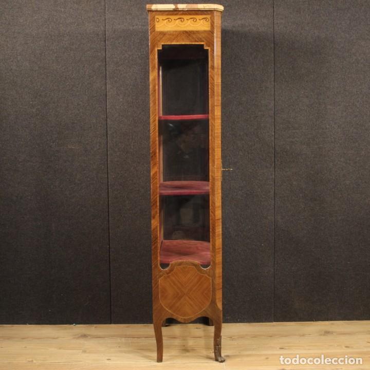 Antigüedades: Vitrina francesa en madera con incrustaciones con encimera de mármol - Foto 10 - 207060461