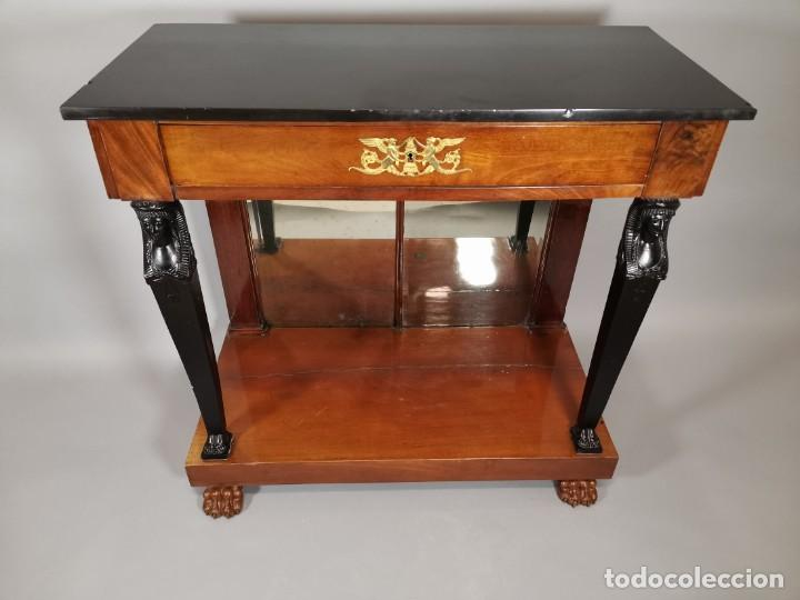 Antigüedades: consola imperio - Foto 3 - 207060883