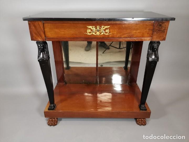 Antigüedades: consola imperio - Foto 4 - 207060883