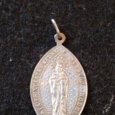 Antigüedades: MEDALLA RELIGIOSA DE PLATA, DOBLE GRABADO 4,5CM. Lote 207075217