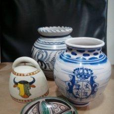 Antigüedades: LOTE CERÁMICA ESPAÑOLA TERUEL GORRIZ TALAVERA LA MENORA. Lote 207080405